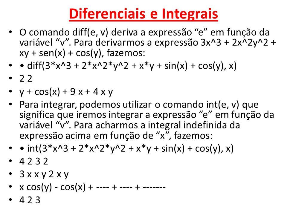 Diferenciais e Integrais