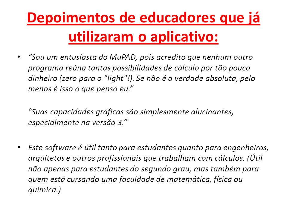 Depoimentos de educadores que já utilizaram o aplicativo: