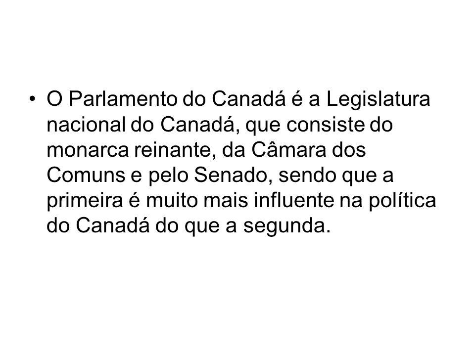 O Parlamento do Canadá é a Legislatura nacional do Canadá, que consiste do monarca reinante, da Câmara dos Comuns e pelo Senado, sendo que a primeira é muito mais influente na política do Canadá do que a segunda.