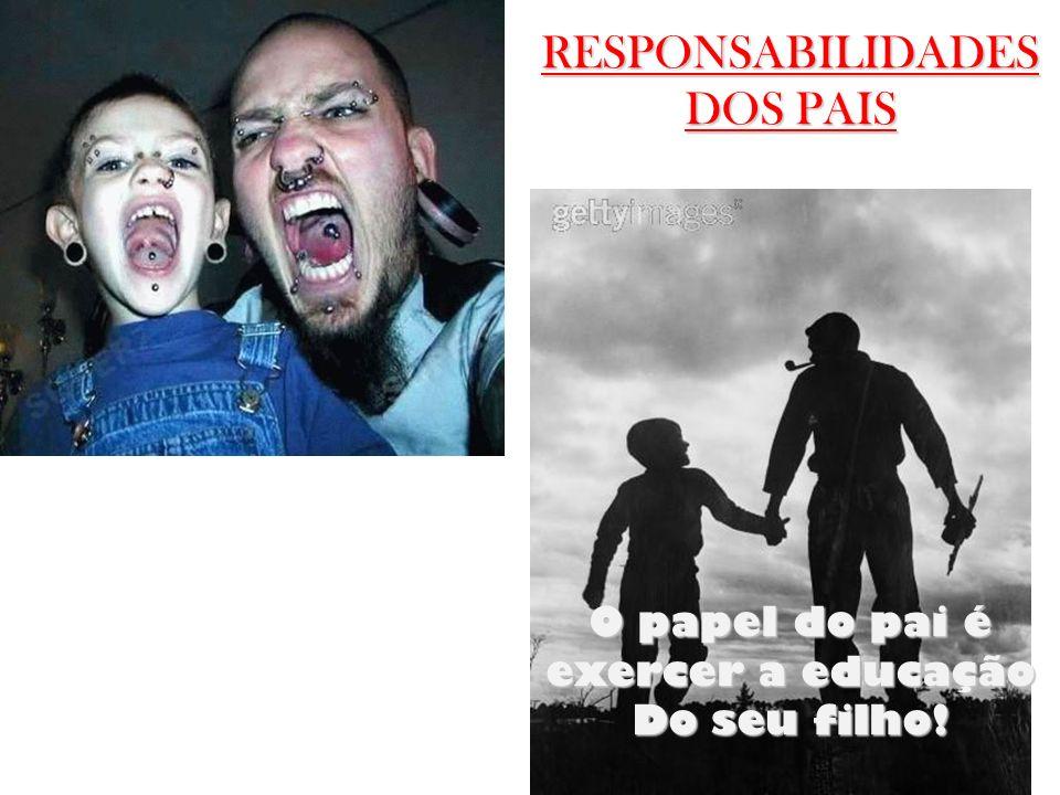 O papel do pai é exercer a educação
