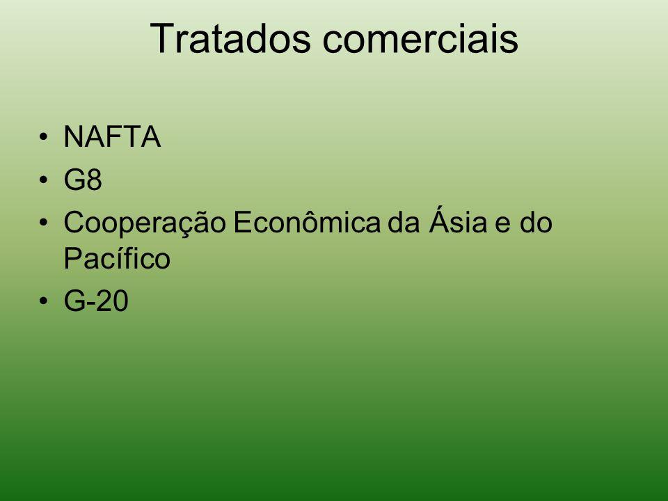 Tratados comerciais NAFTA G8