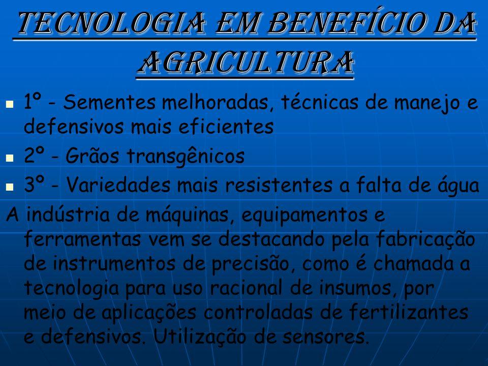 Tecnologia em benefício da agricultura