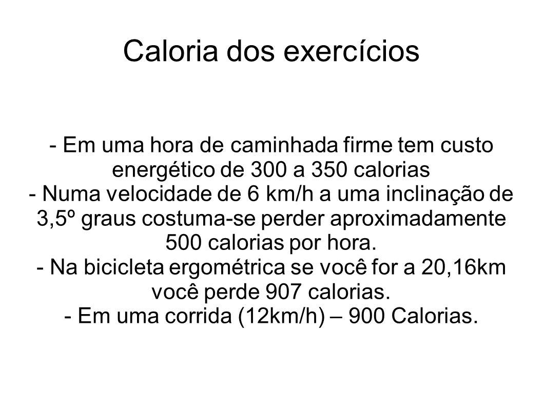 Caloria dos exercícios