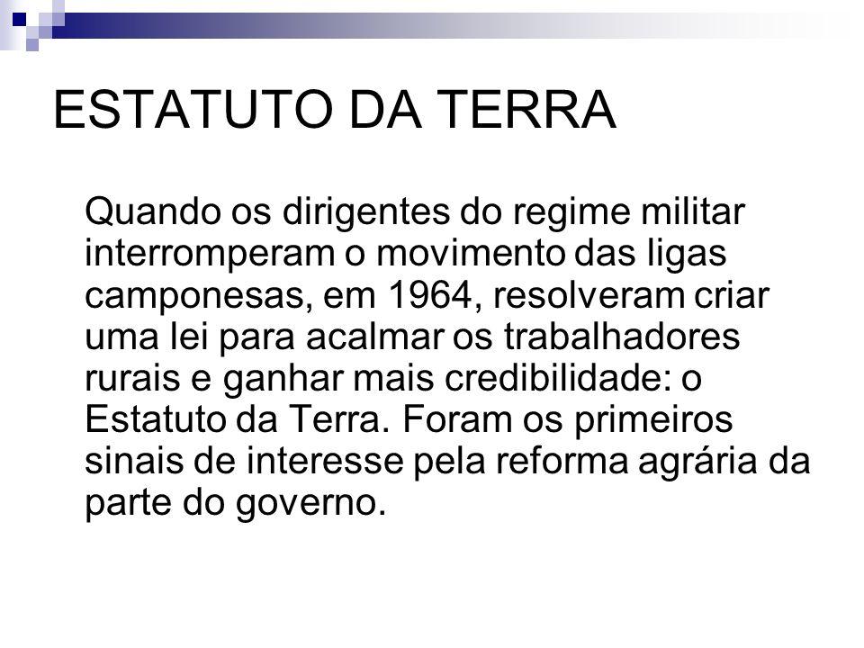 ESTATUTO DA TERRA