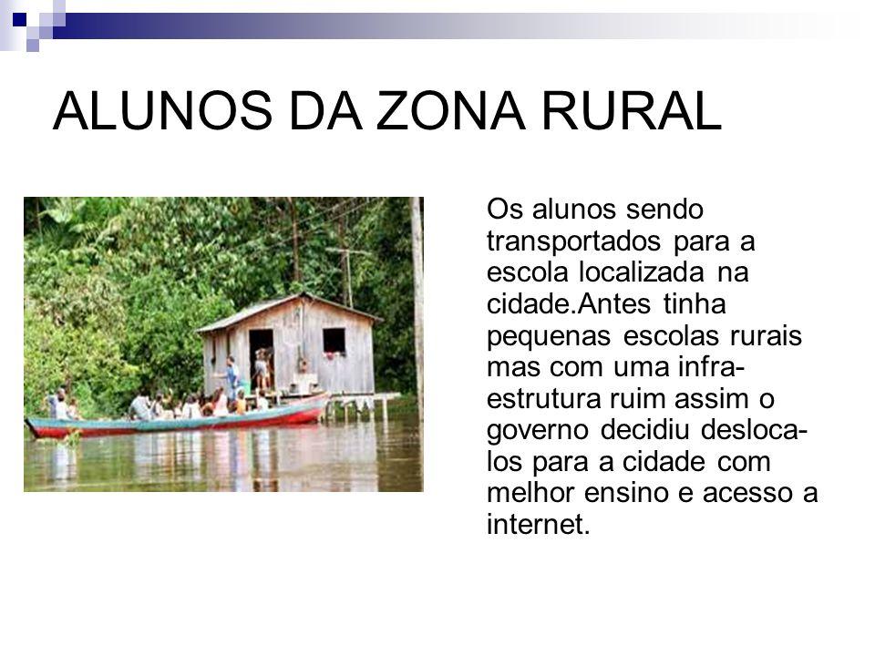 ALUNOS DA ZONA RURAL