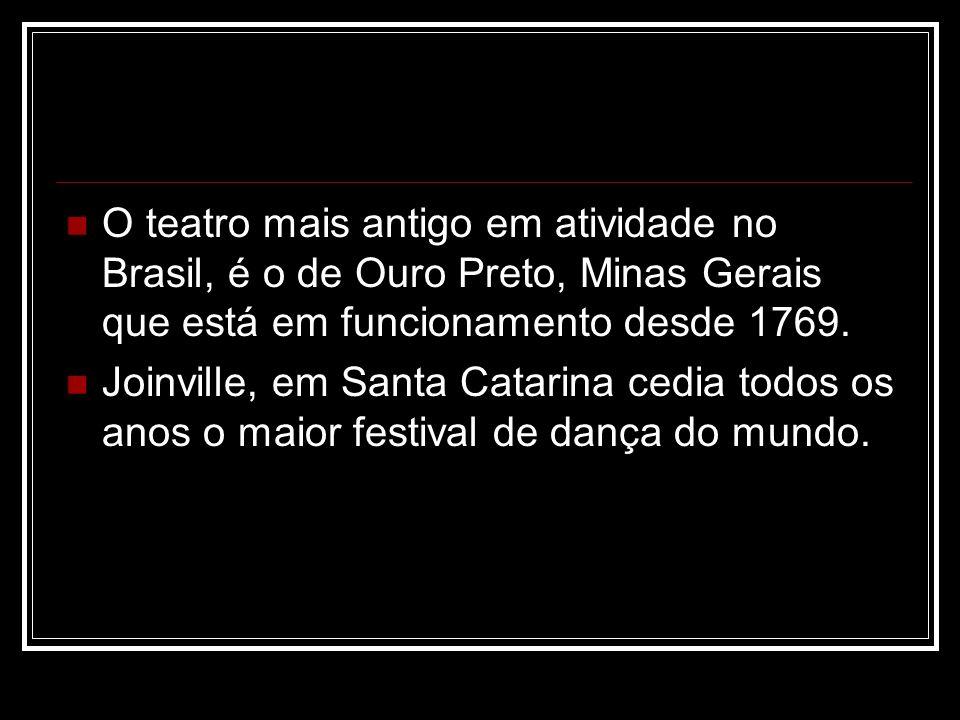 O teatro mais antigo em atividade no Brasil, é o de Ouro Preto, Minas Gerais que está em funcionamento desde 1769.