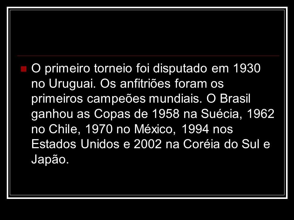 O primeiro torneio foi disputado em 1930 no Uruguai