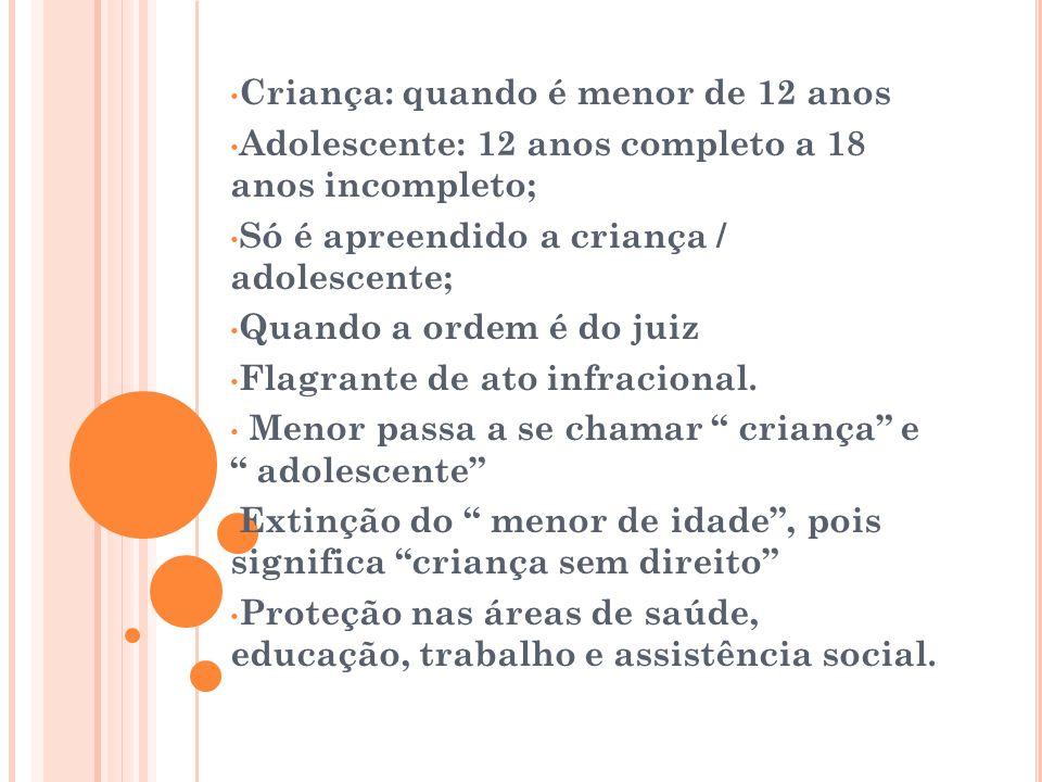 Criança: quando é menor de 12 anos