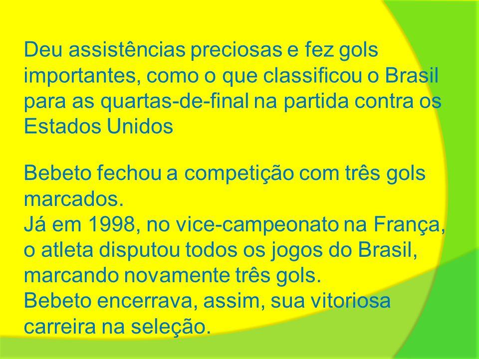 Deu assistências preciosas e fez gols importantes, como o que classificou o Brasil para as quartas-de-final na partida contra os Estados Unidos
