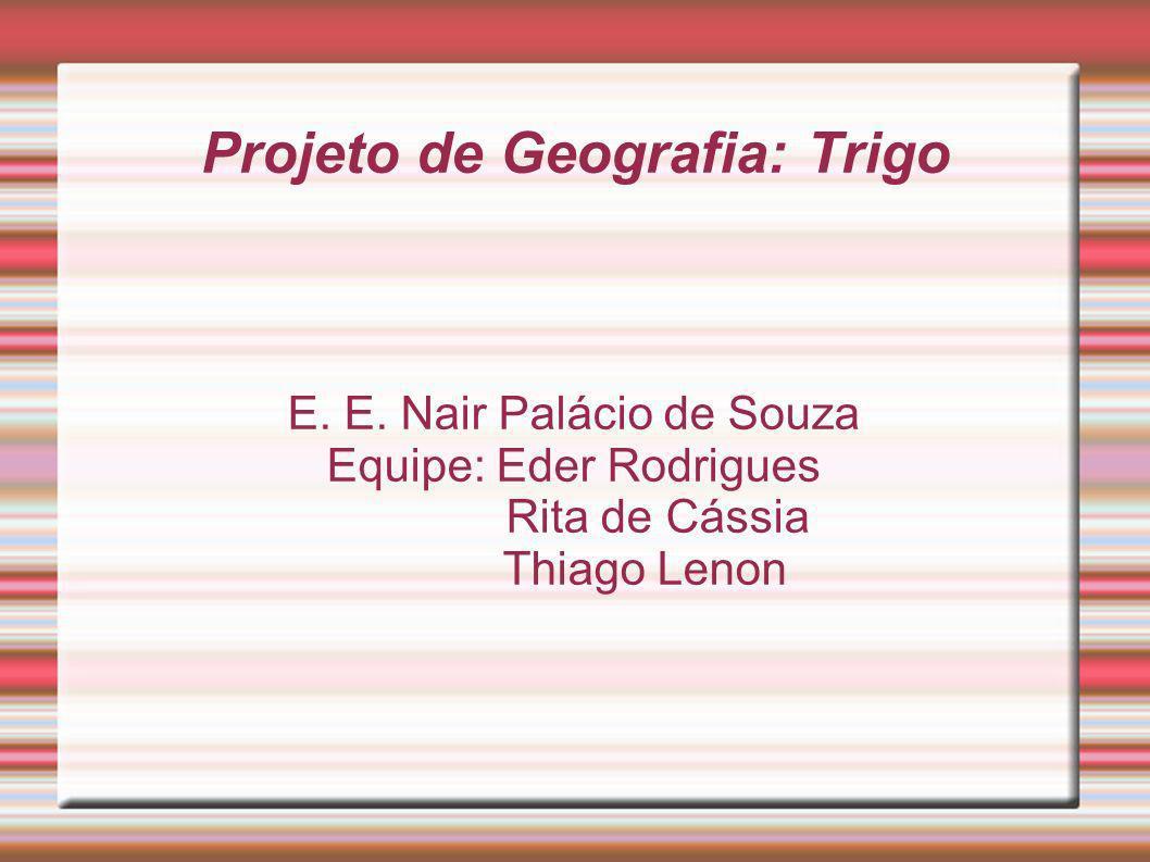 Projeto de Geografia: Trigo