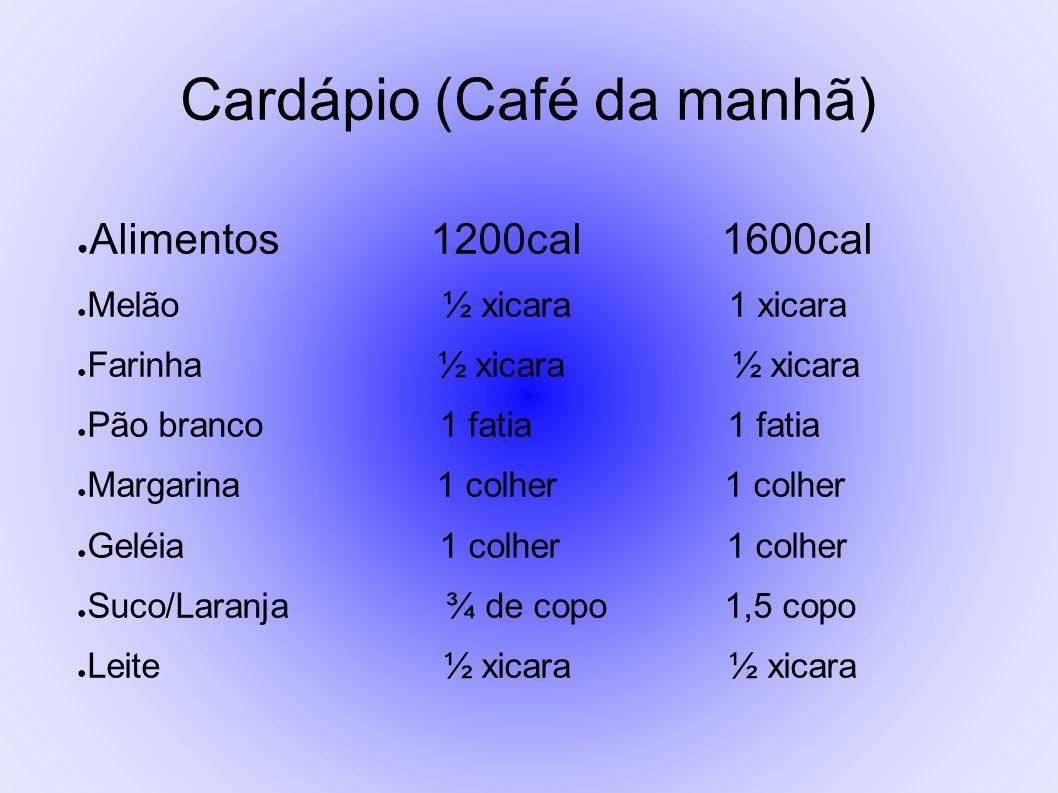 Cardápio (Café da manhã)