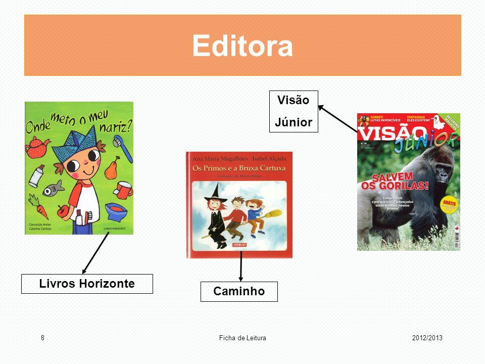 Editora Visão Júnior Livros Horizonte Caminho Ficha de Leitura