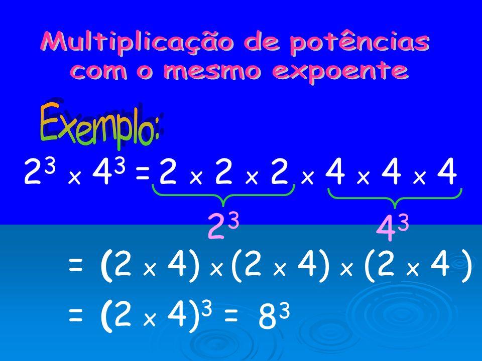 Multiplicação de potências