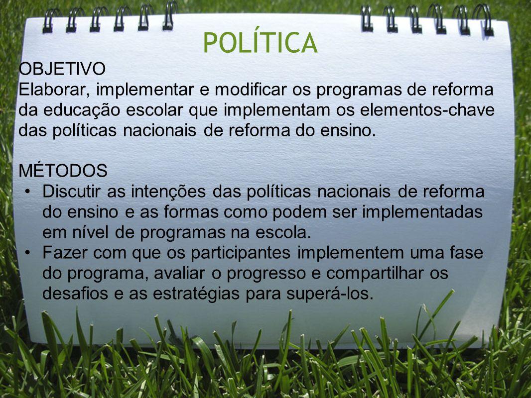 POLÍTICA OBJETIVO.