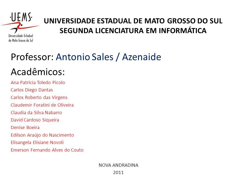Professor: Antonio Sales / Azenaide Acadêmicos: