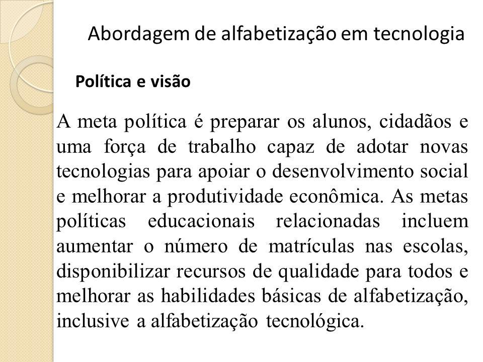 Abordagem de alfabetização em tecnologia