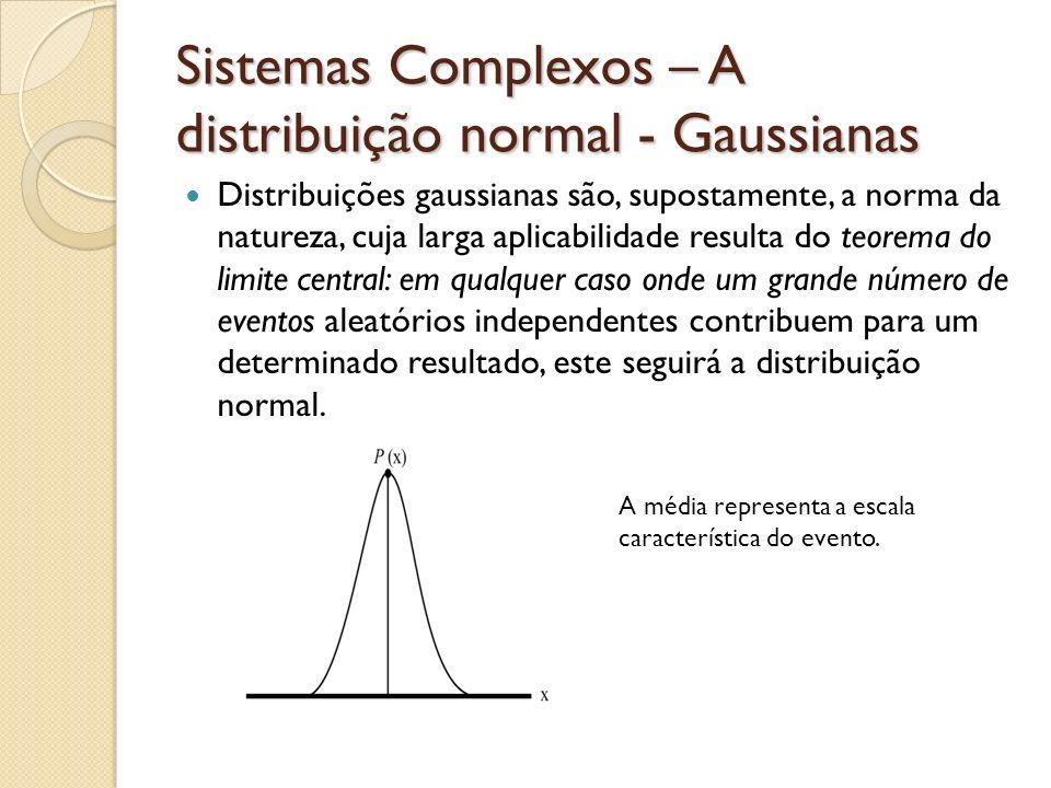 Sistemas Complexos – A distribuição normal - Gaussianas