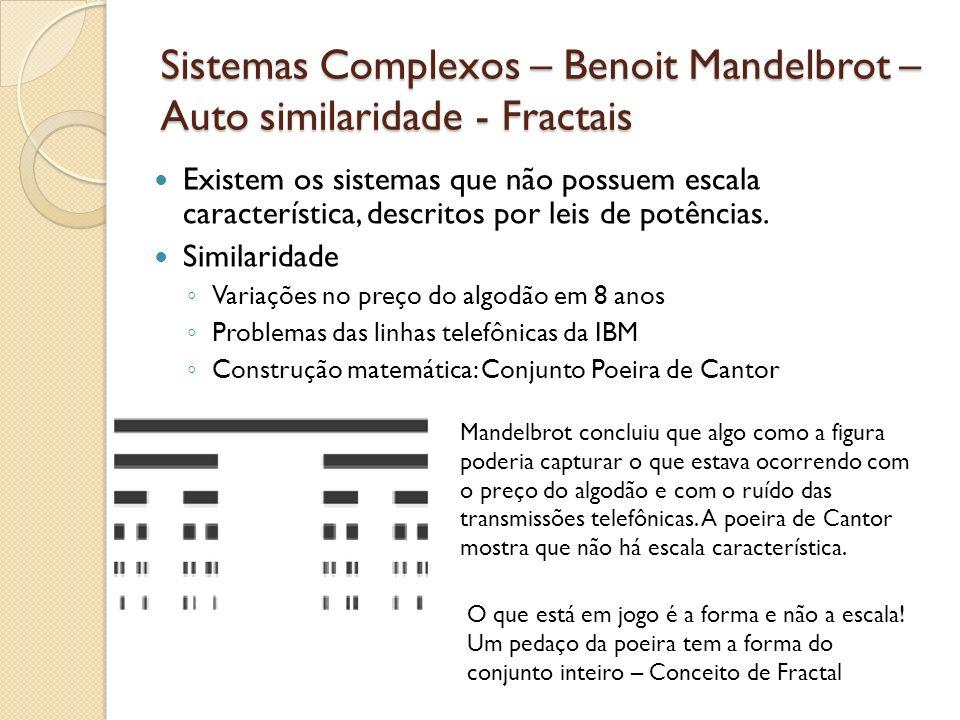 Sistemas Complexos – Benoit Mandelbrot – Auto similaridade - Fractais