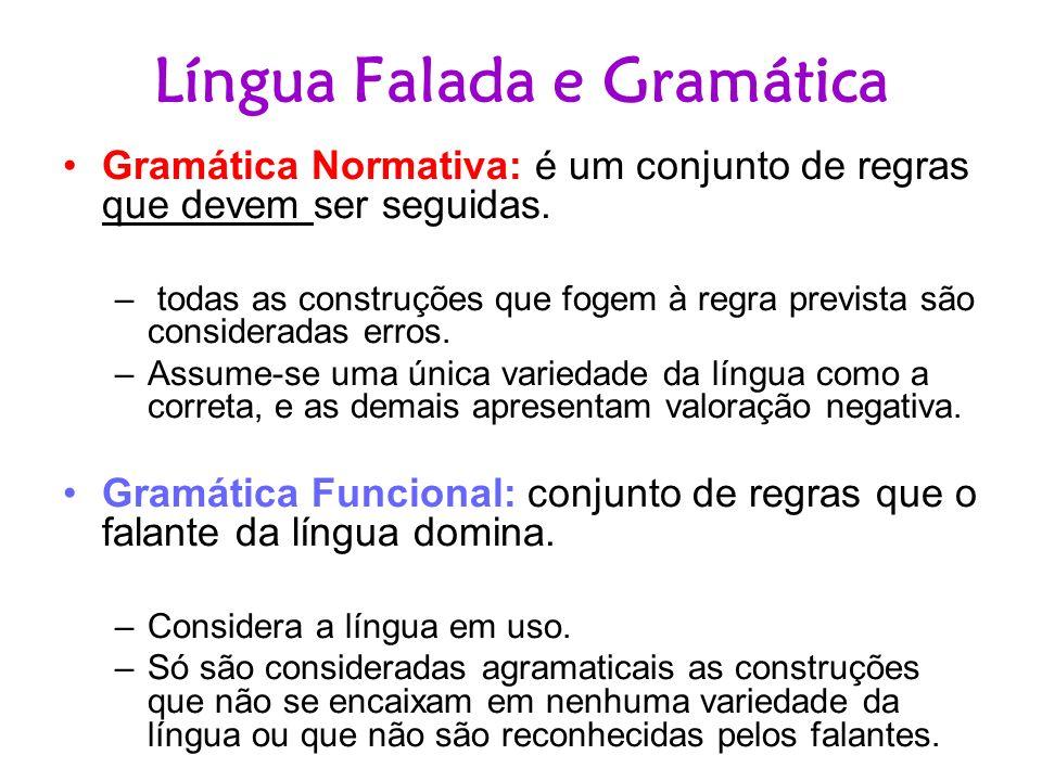 Língua Falada e Gramática