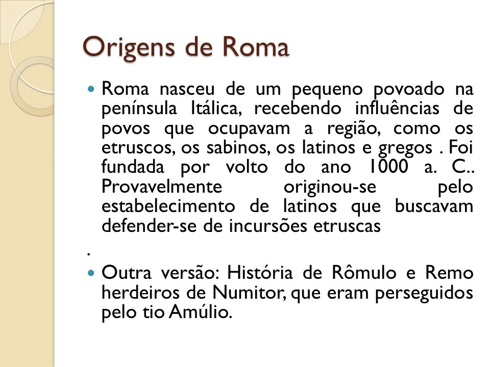 Origens de Roma