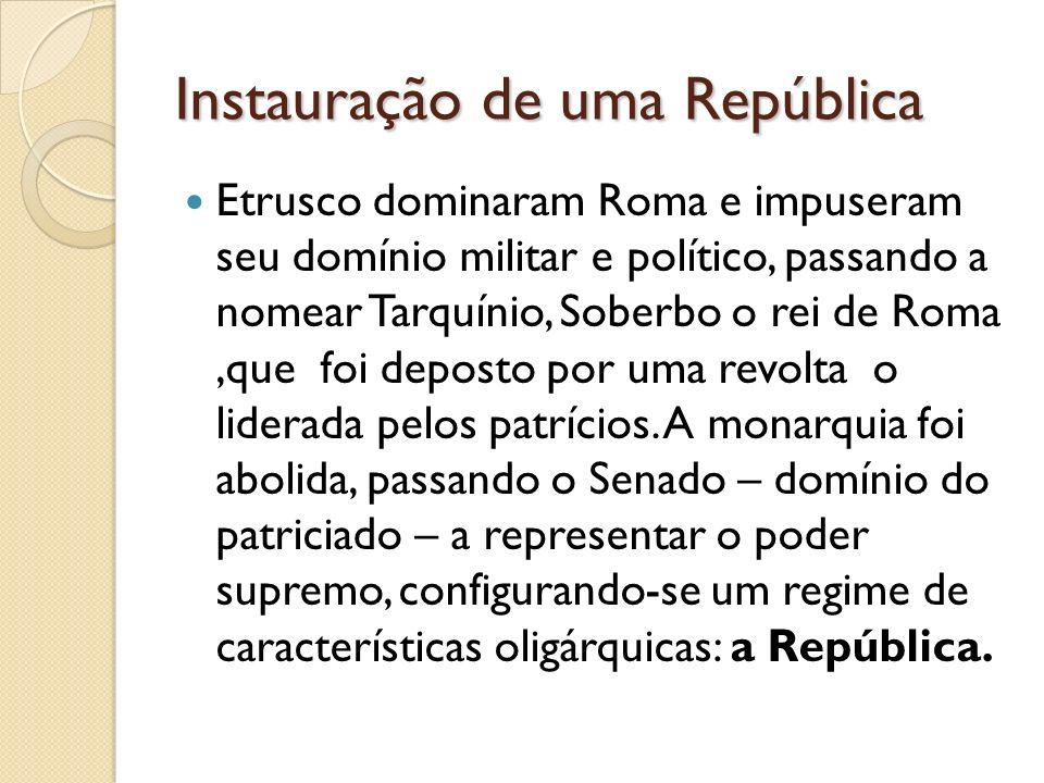 Instauração de uma República