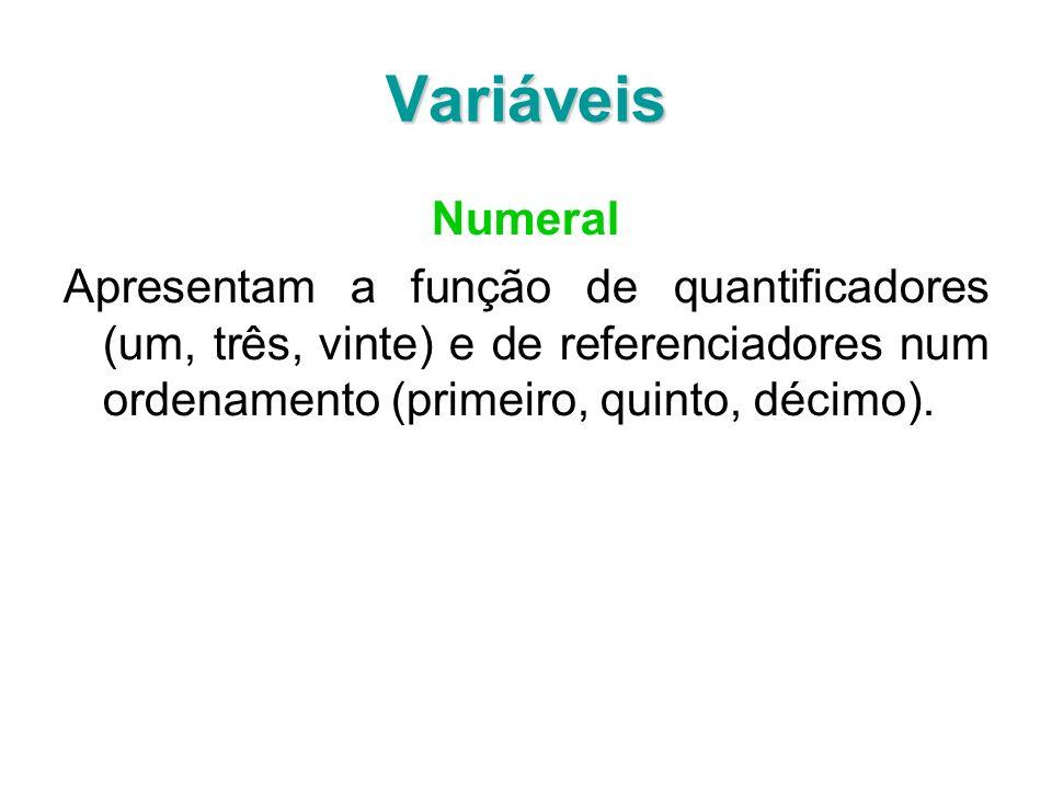 Variáveis Numeral.
