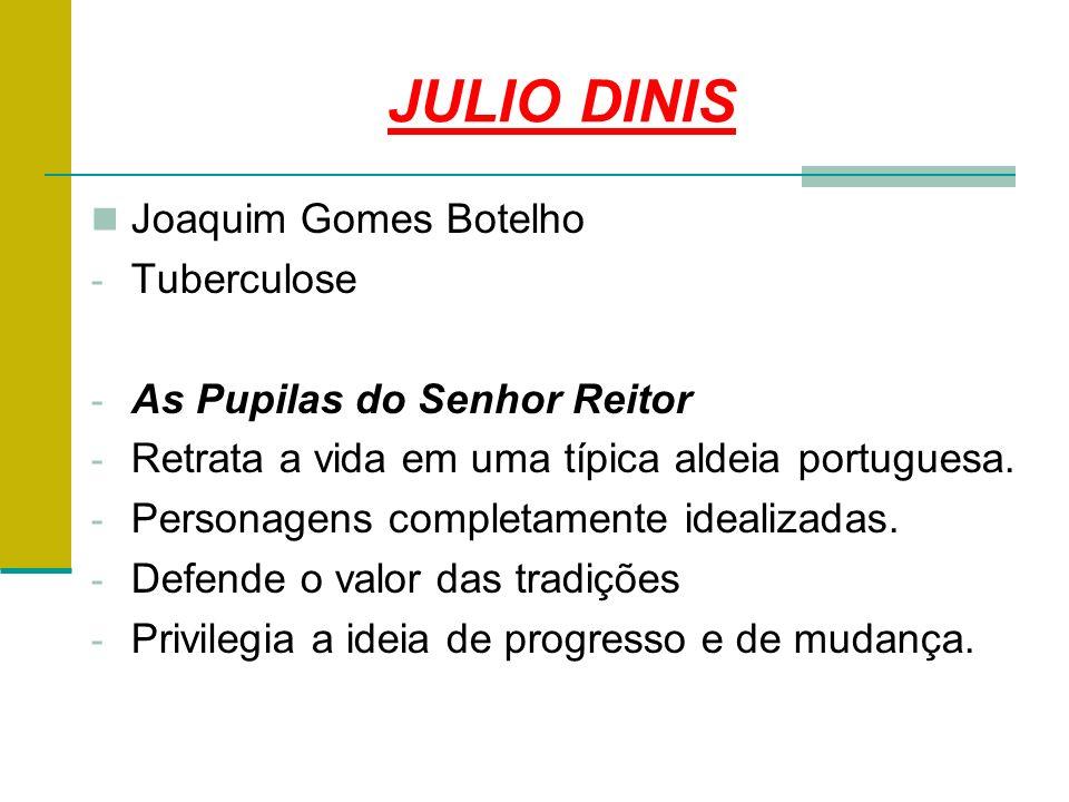 JULIO DINIS Joaquim Gomes Botelho Tuberculose