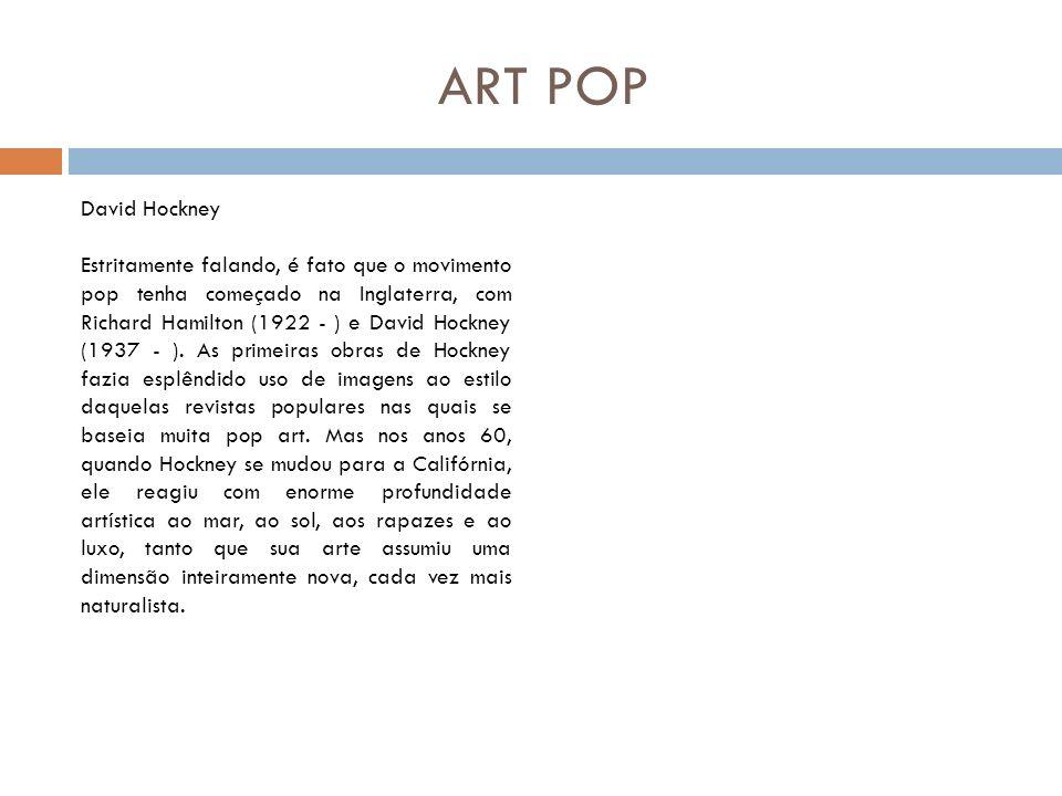 ART POP David Hockney.