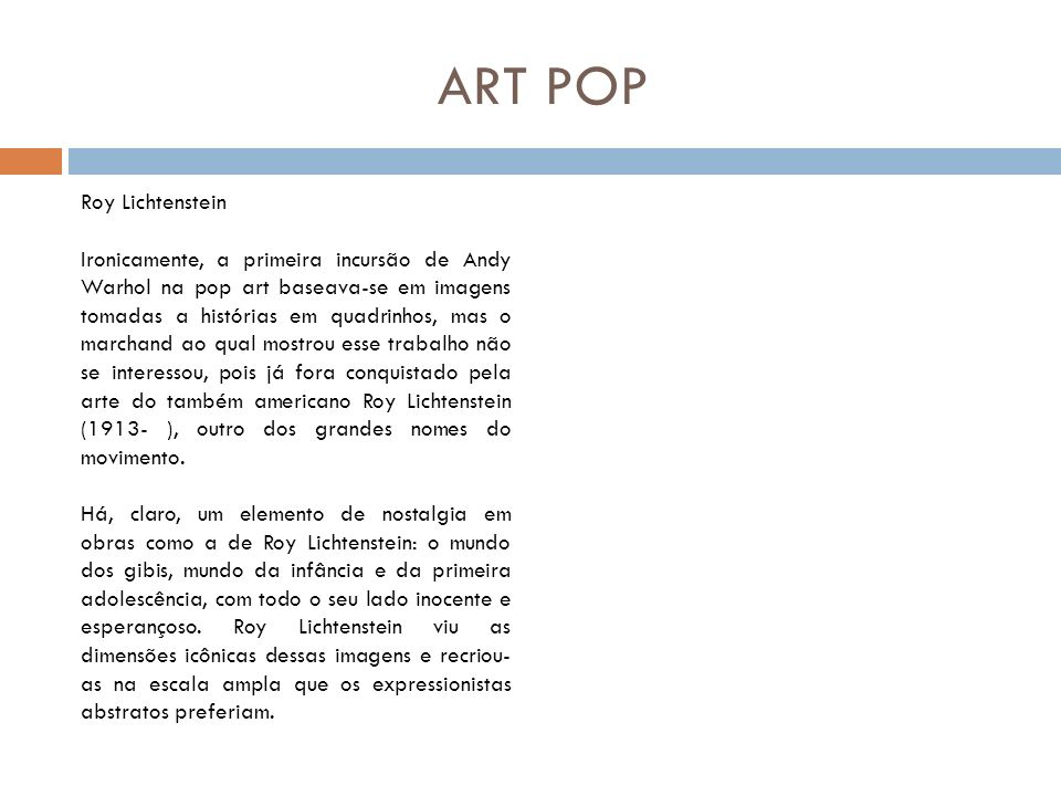 ART POP Roy Lichtenstein