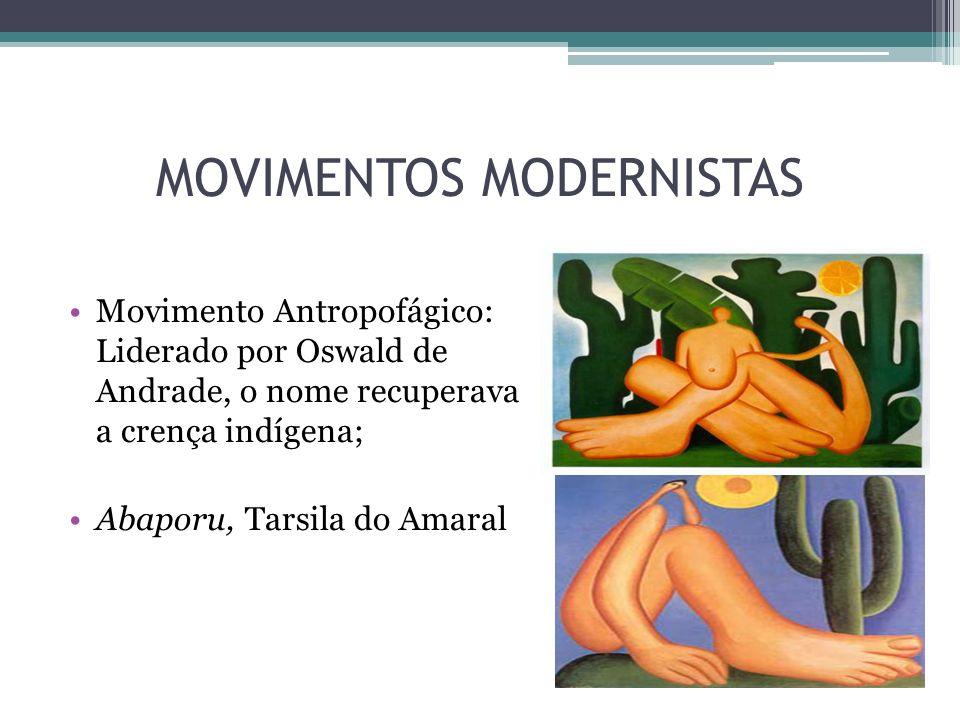 MOVIMENTOS MODERNISTAS