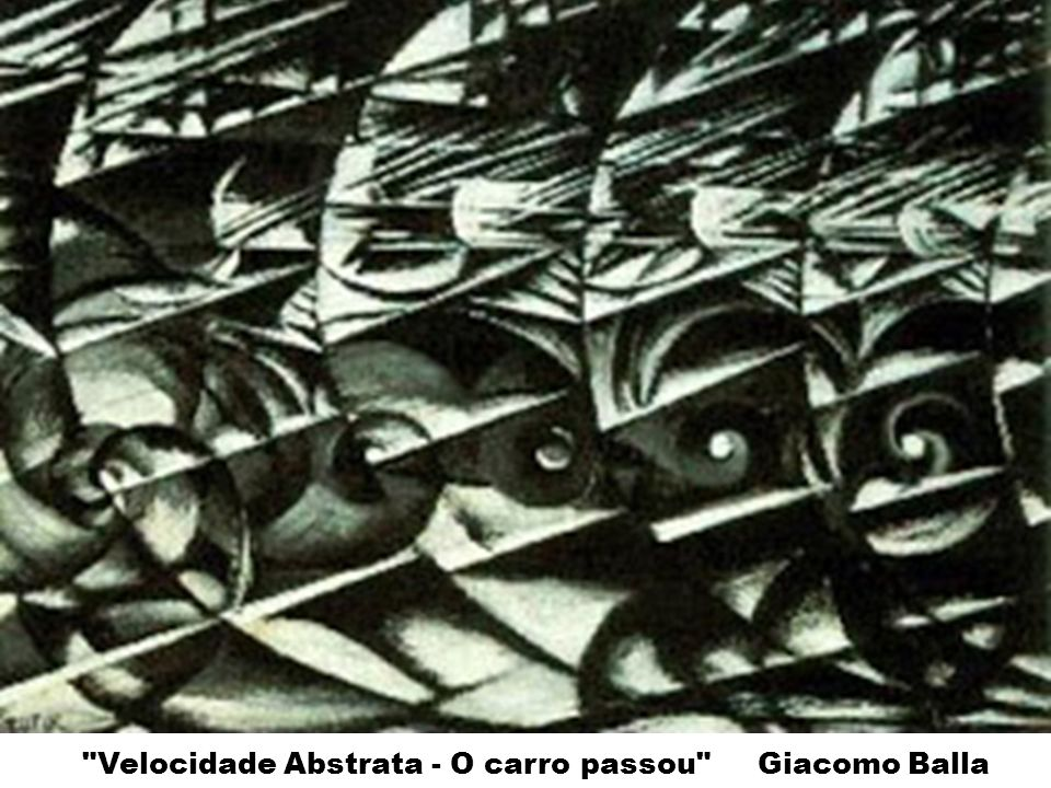 Velocidade Abstrata - O carro passou Giacomo Balla