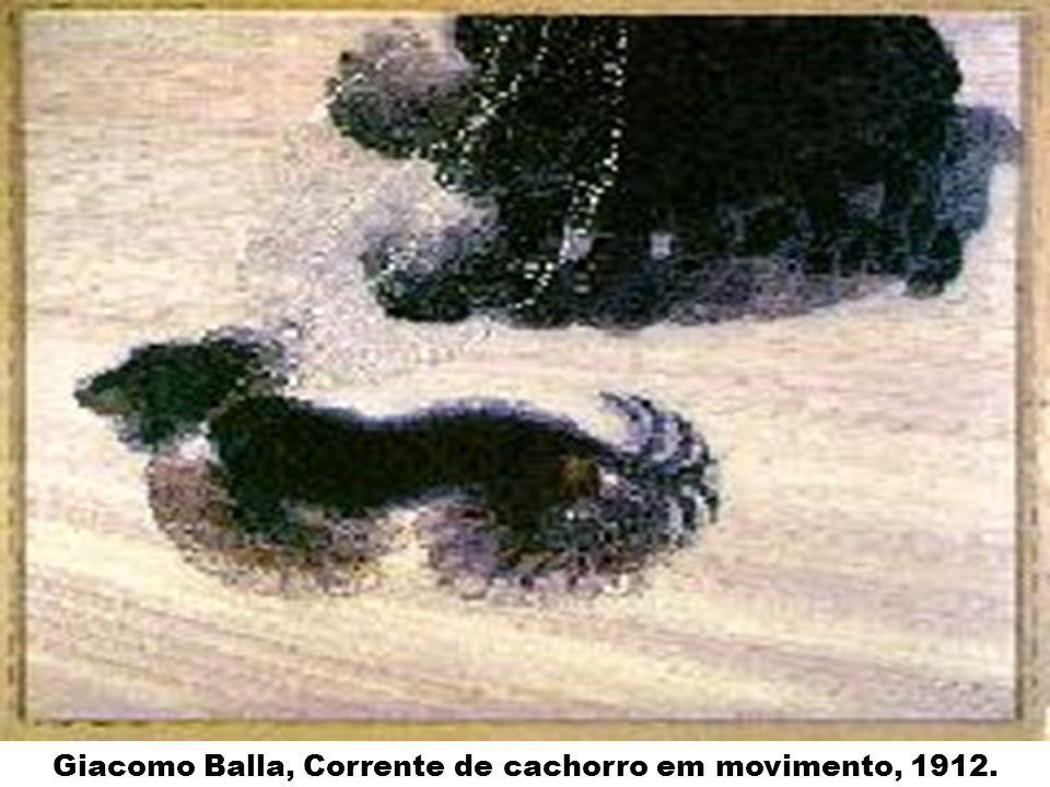 Giacomo Balla, Corrente de cachorro em movimento, 1912.