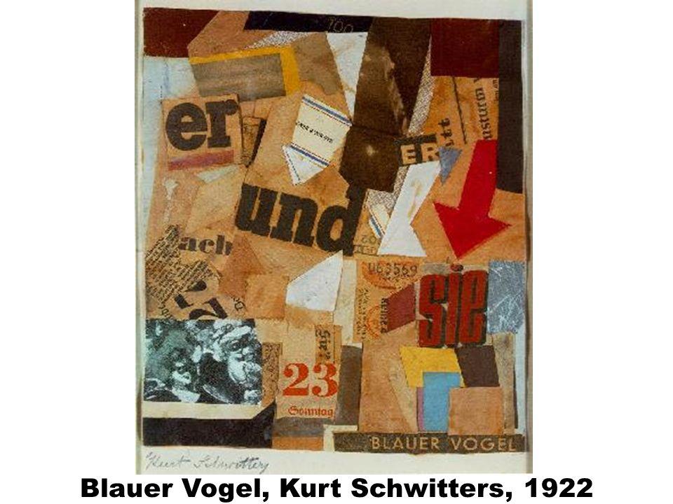 Blauer Vogel, Kurt Schwitters, 1922