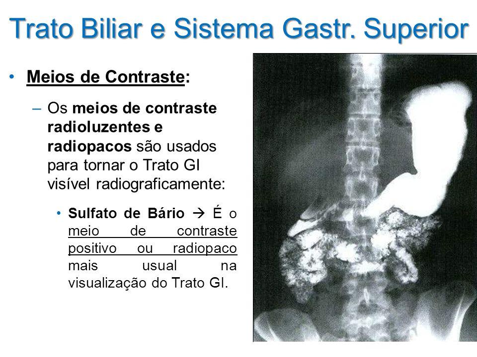 Trato Biliar e Sistema Gastr. Superior