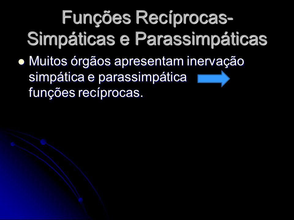 Funções Recíprocas- Simpáticas e Parassimpáticas