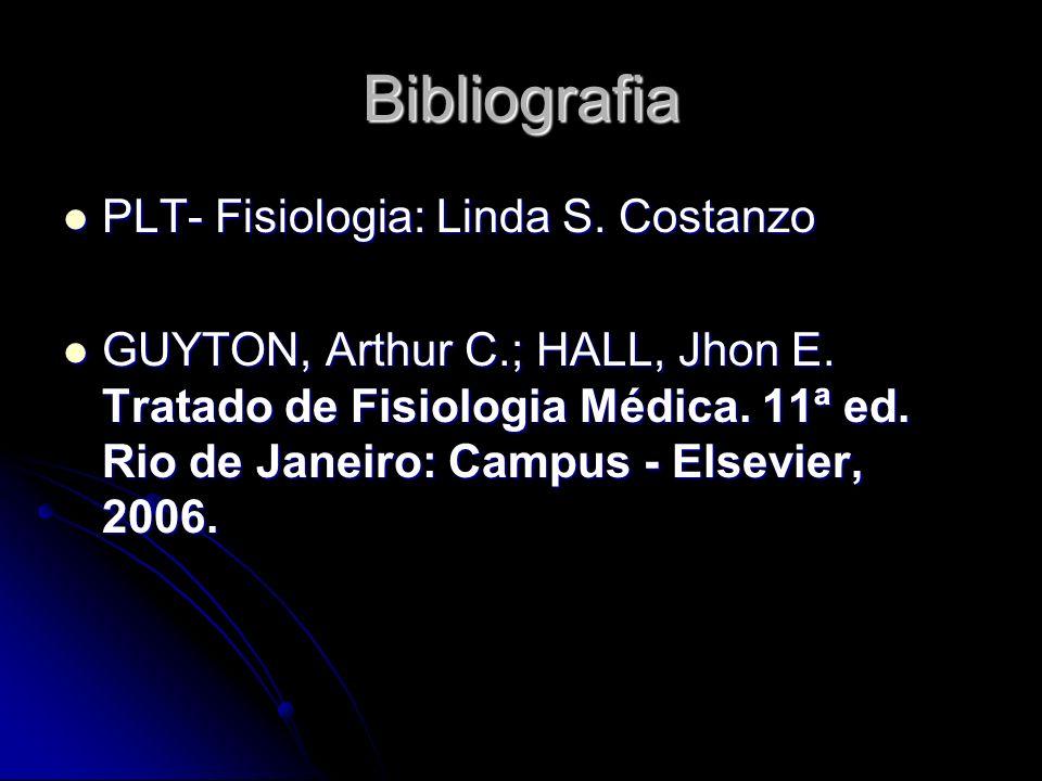 Bibliografia PLT- Fisiologia: Linda S. Costanzo