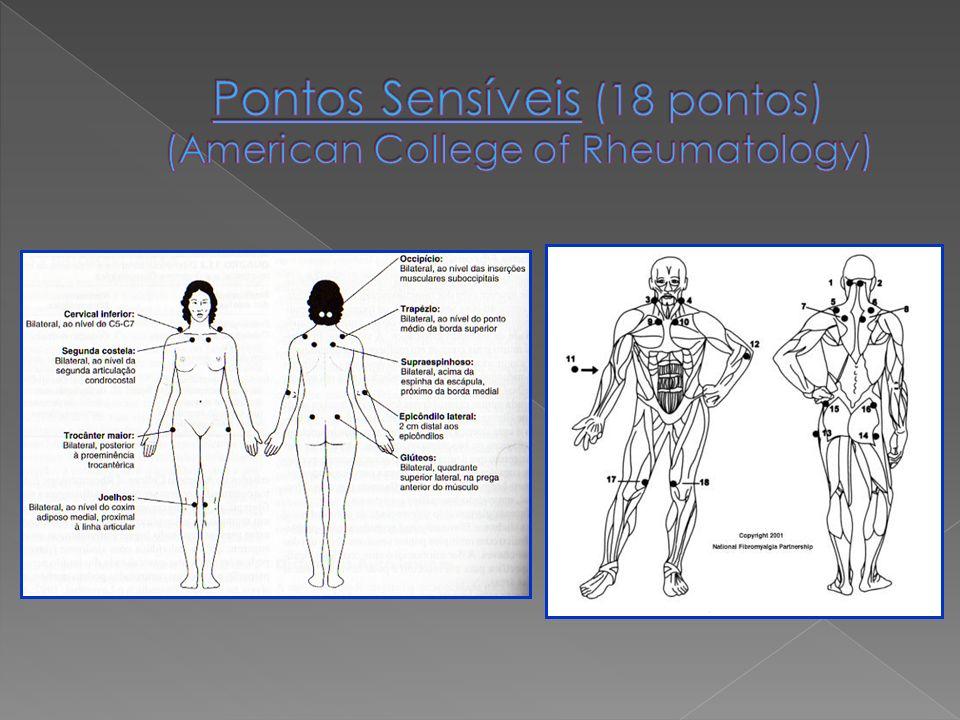 Pontos Sensíveis (18 pontos) (American College of Rheumatology)