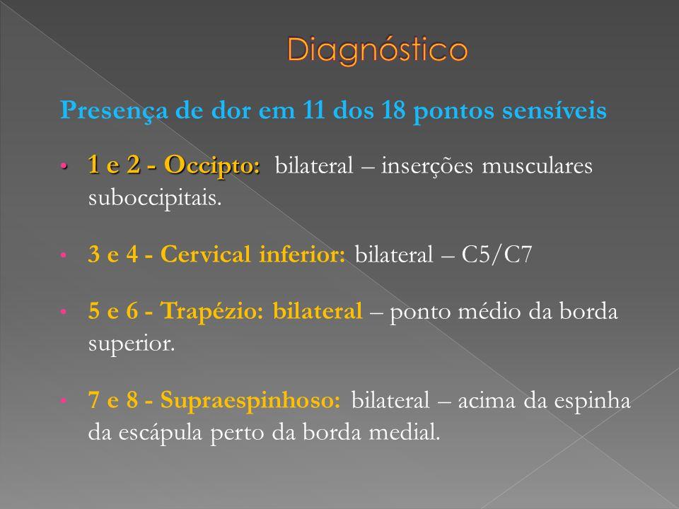 Diagnóstico Presença de dor em 11 dos 18 pontos sensíveis