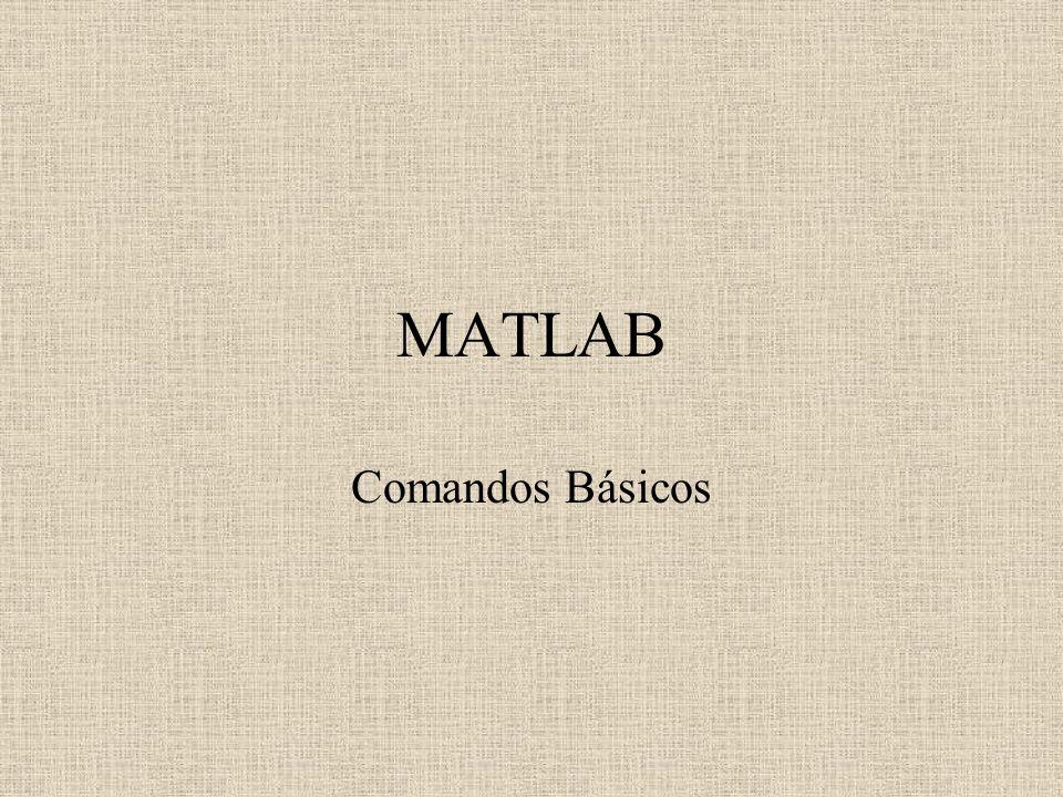 MATLAB Comandos Básicos