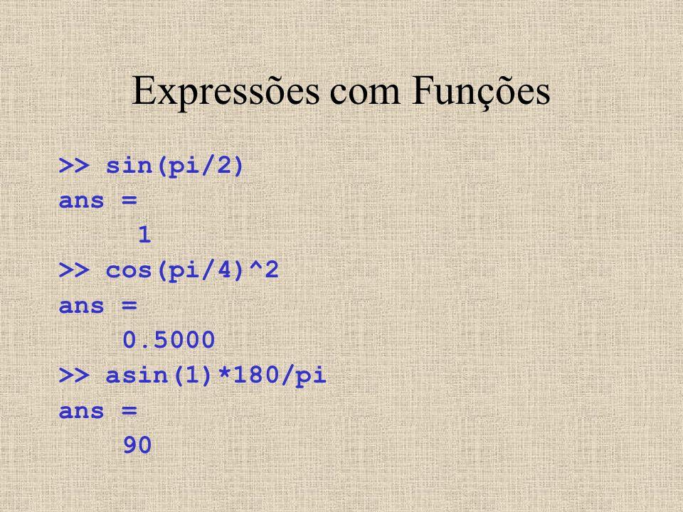 Expressões com Funções