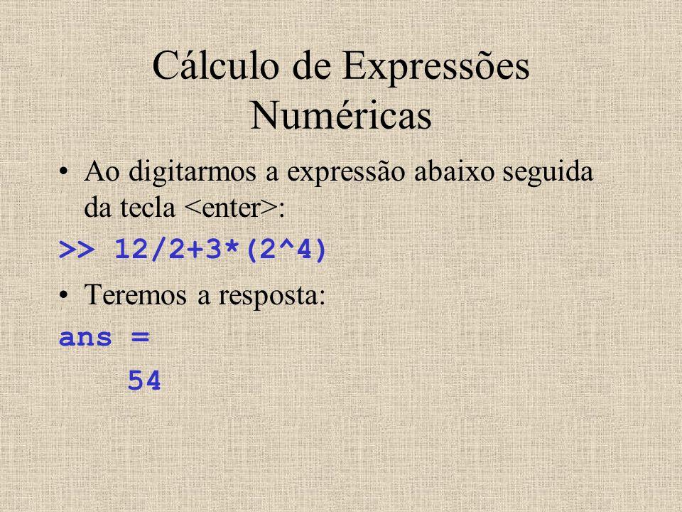 Cálculo de Expressões Numéricas