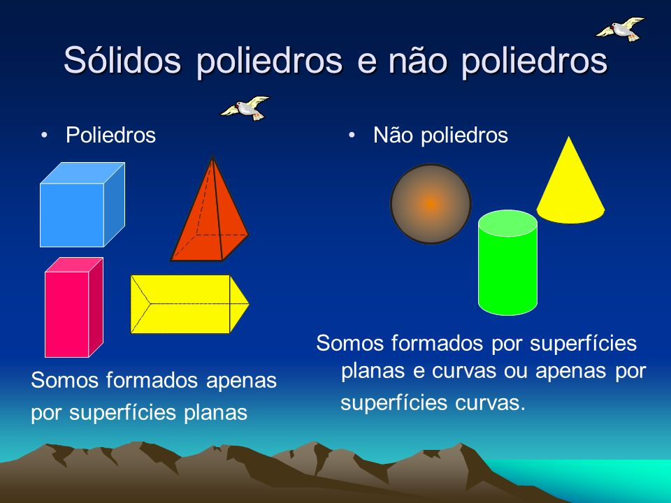 Sólidos poliedros e não poliedros