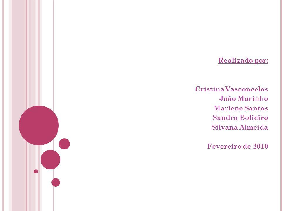 Realizado por: Cristina Vasconcelos. João Marinho. Marlene Santos. Sandra Bolieiro. Silvana Almeida.