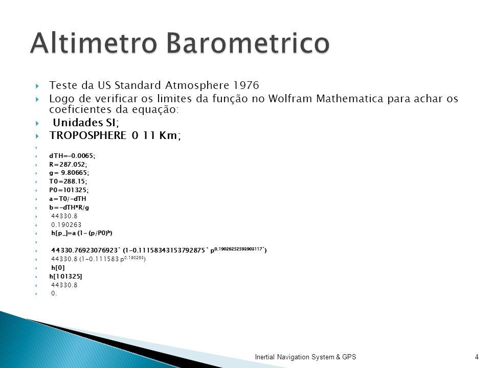 Altimetro Barometrico