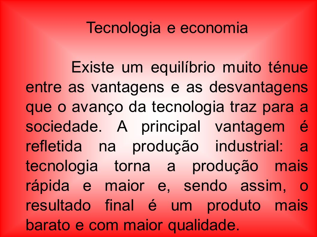 Tecnologia e economia