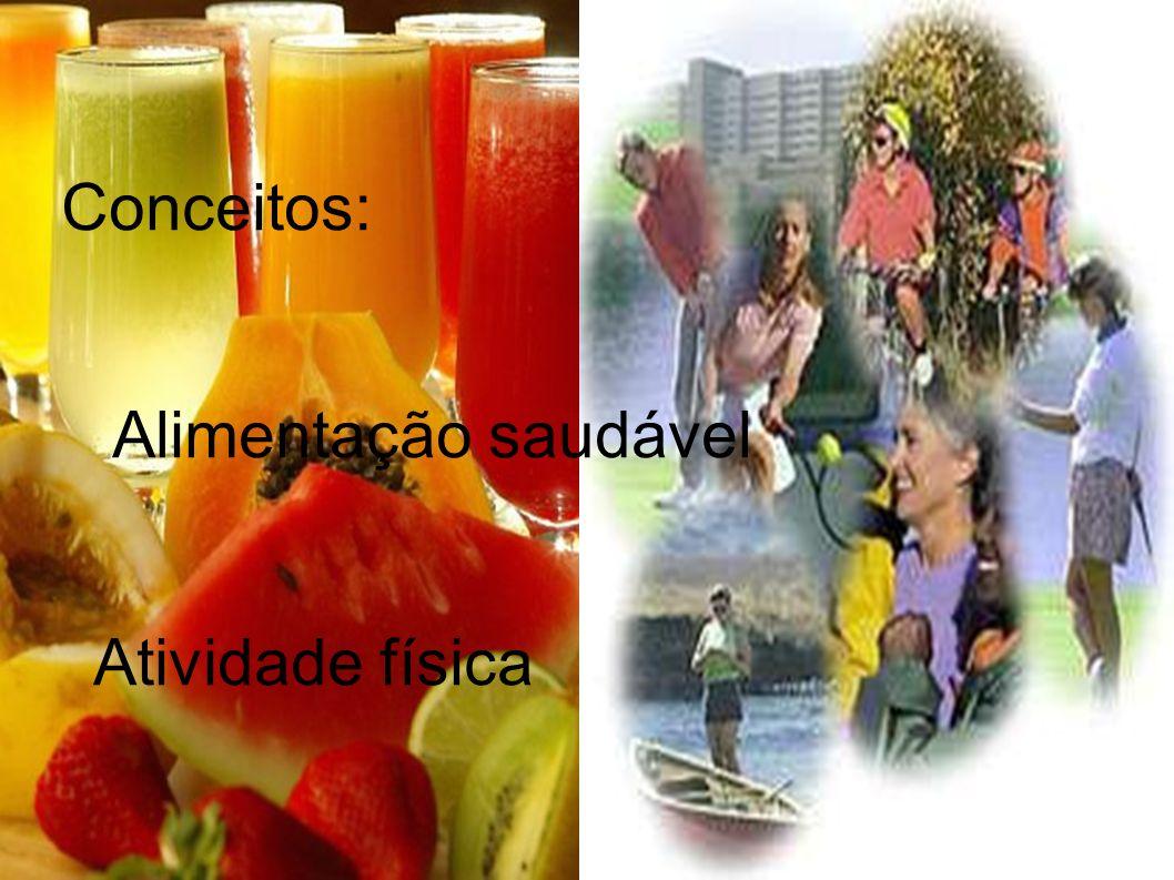 Conceitos: Alimentação saudável Atividade física