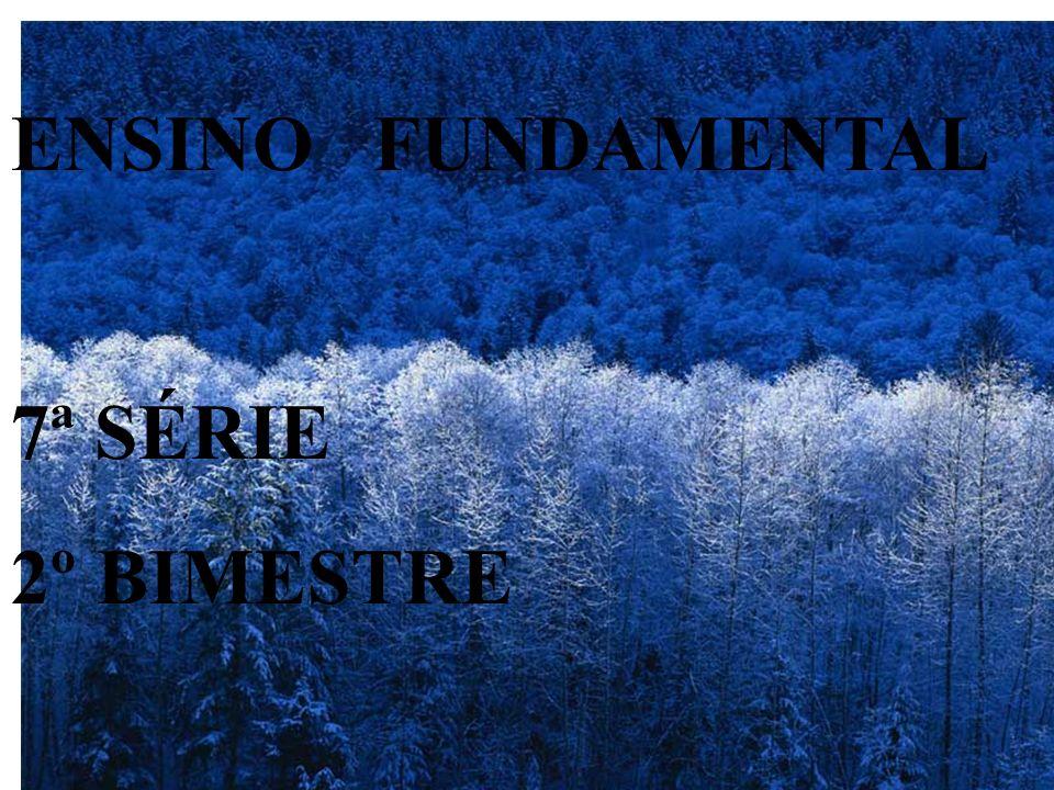 ENSINO FUNDAMENTAL 7ª SÉRIE 2º BIMESTRE