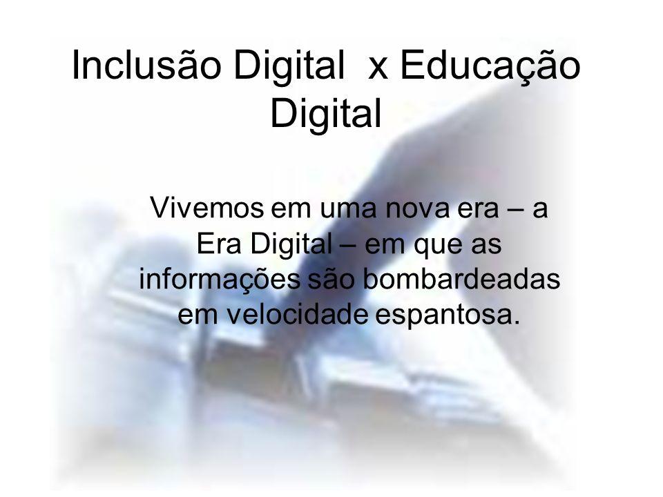 Inclusão Digital x Educação Digital