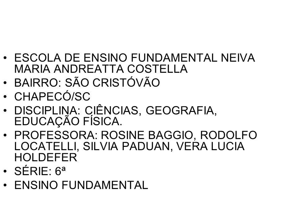 ESCOLA DE ENSINO FUNDAMENTAL NEIVA MARIA ANDREATTA COSTELLA