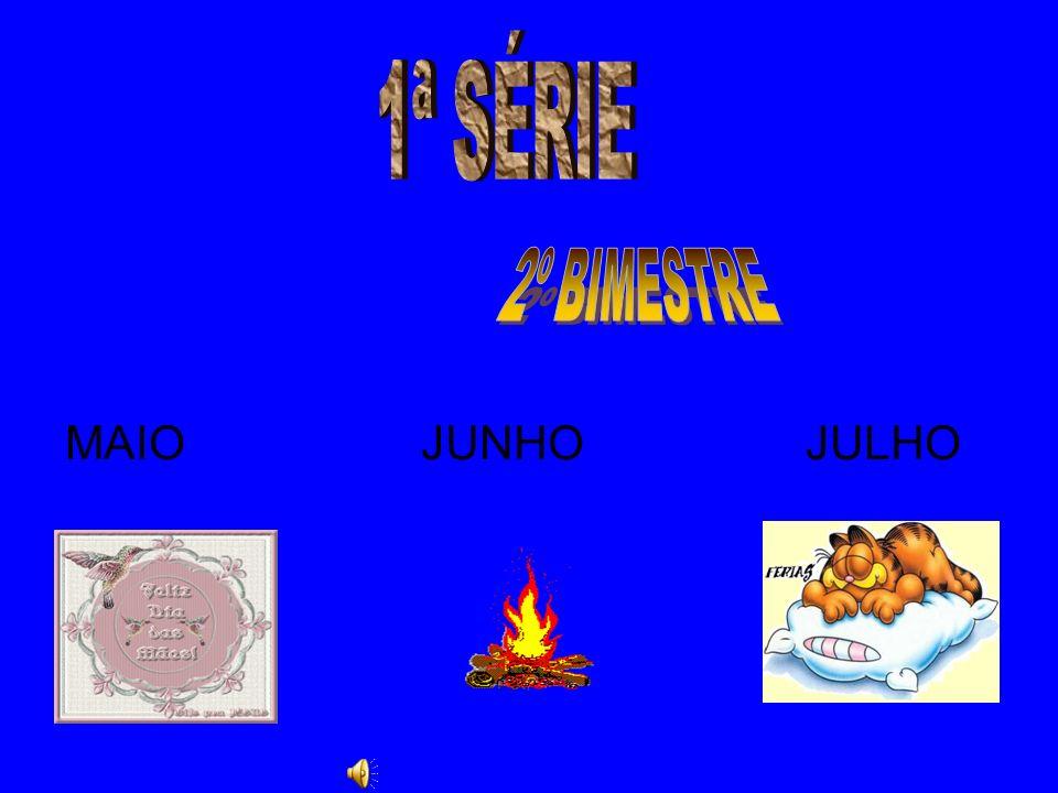 1ª SÉRIE MAIO JUNHO JULHO 2º BIMESTRE